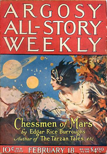 1922 original publication of Chessmen of Mars